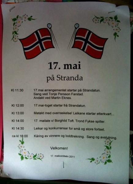 17.mai-programmet på Stranda